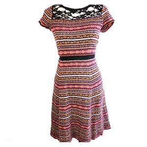 ☀️Sparrow Anthropologie multi color midi dress
